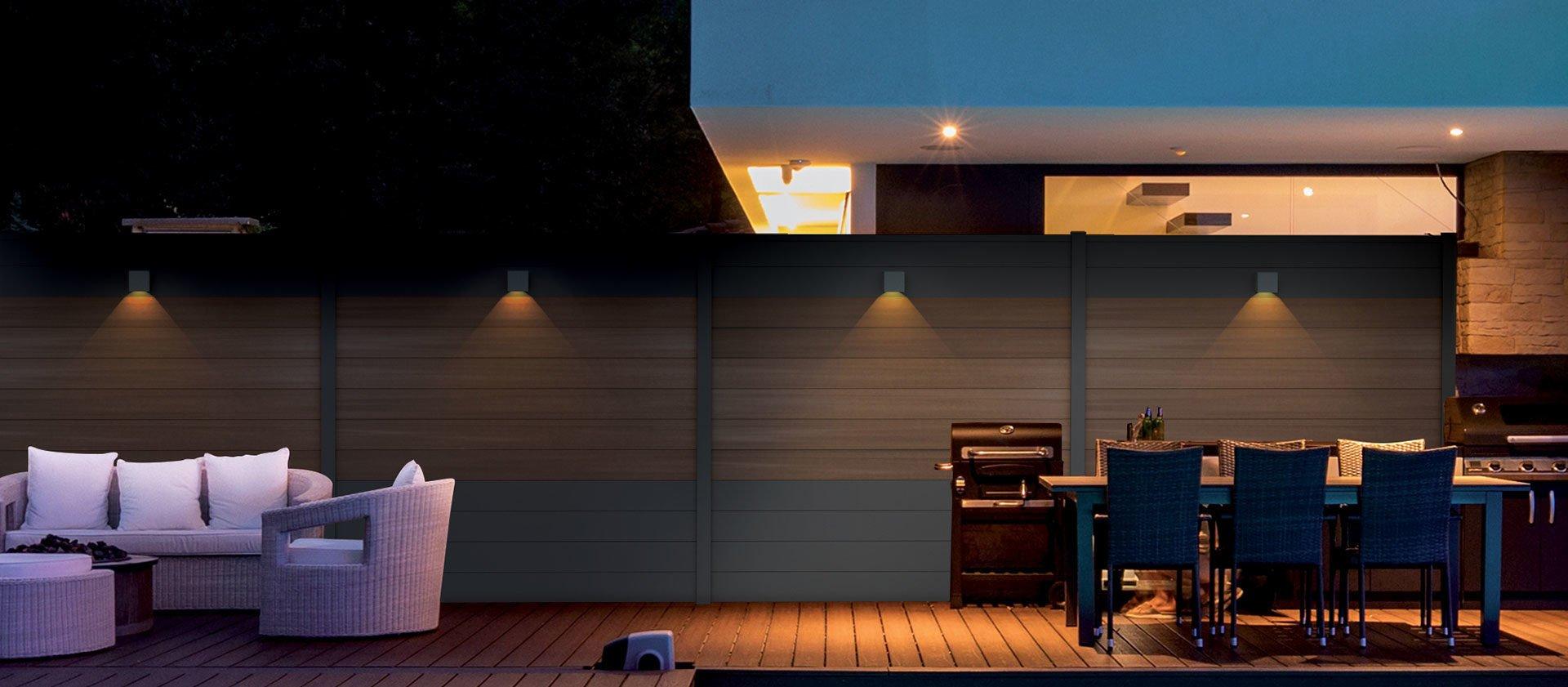 Eclairage De Terrasse Sur Pied spots led pour clôture composite - fiberdeck
