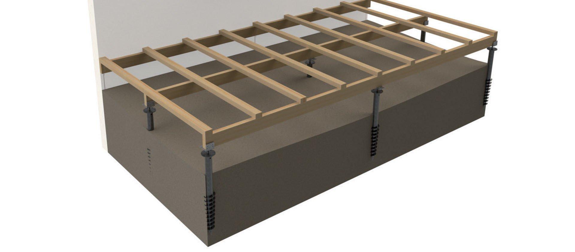 Terrasse Surélevée En Acier vis de fondation pour structure de terrasse bois - fiberdeck