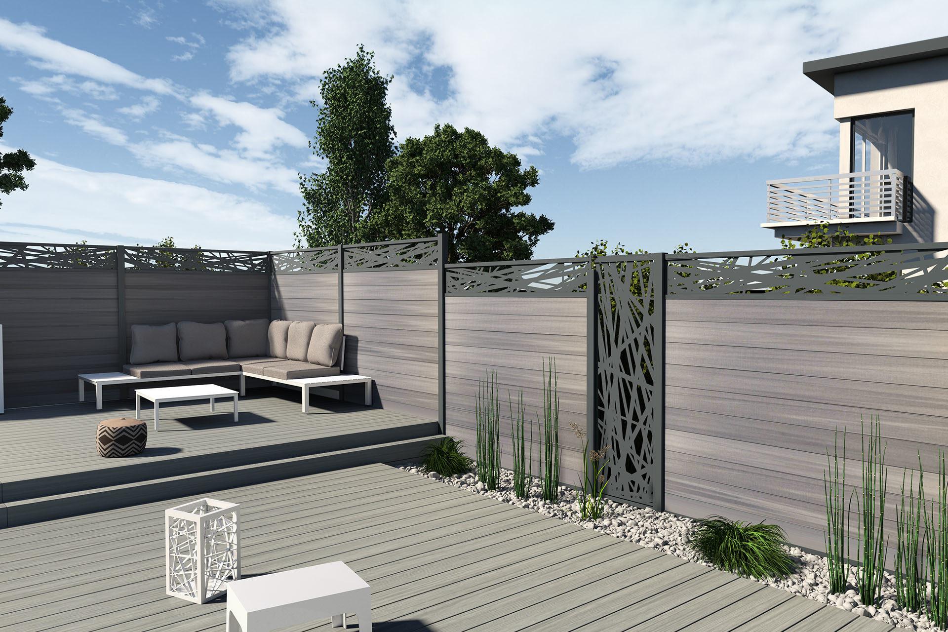 Fabriquer Un Brise Vue Bois fabricant de terrasse bardage clôture composite - fiberdeck.fr