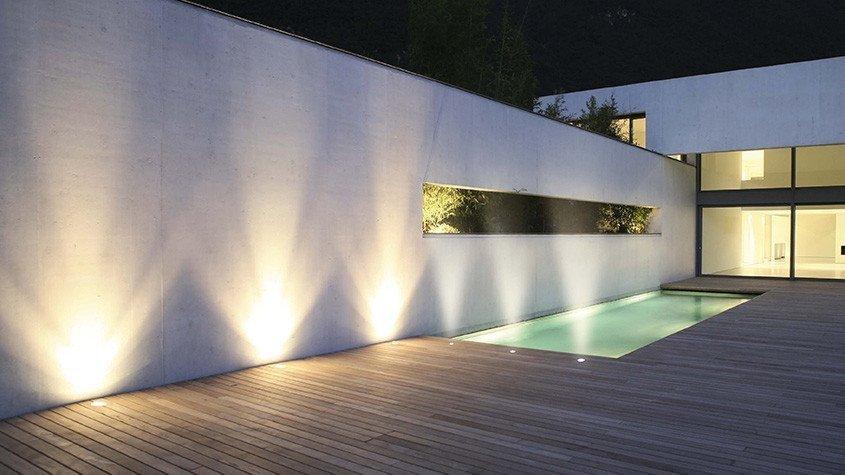 spot terrasse la nuit