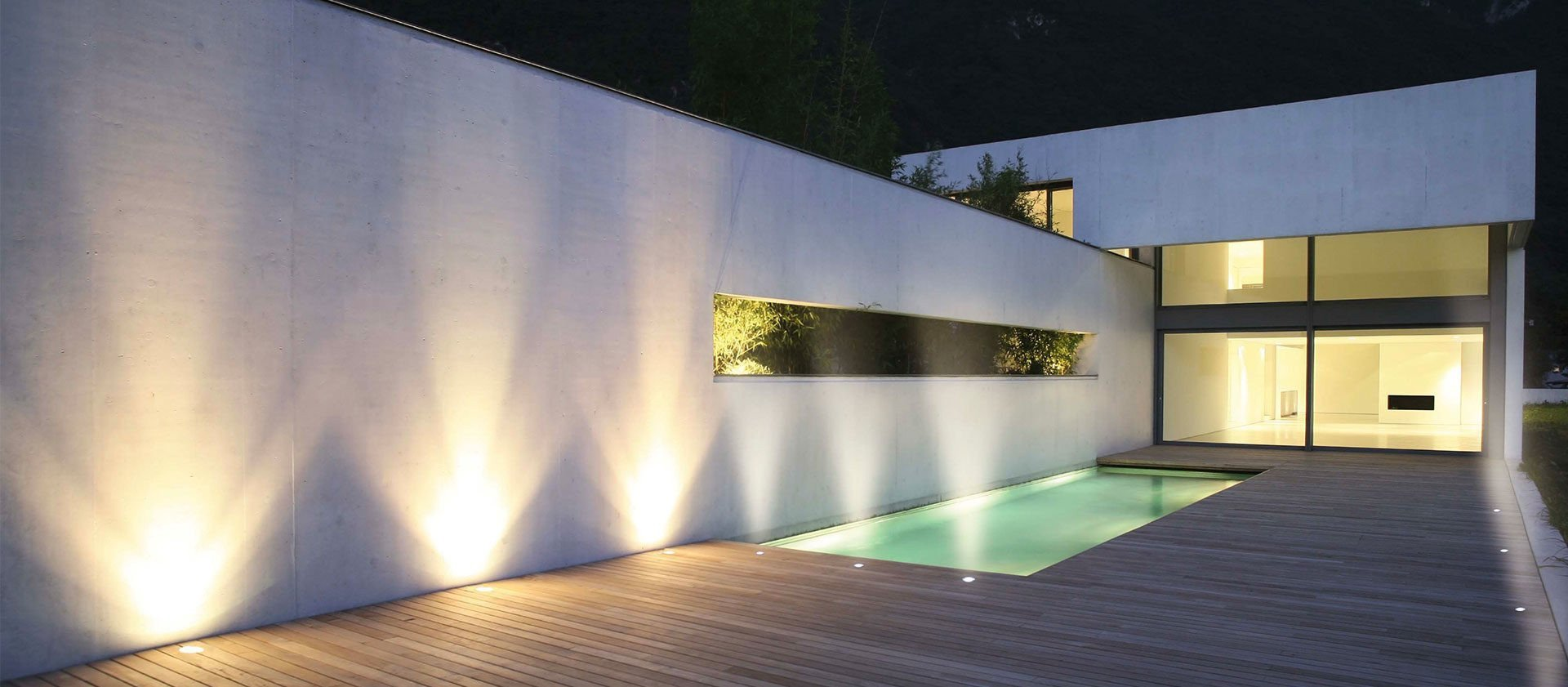Cloture En Bois Blanc spotlights for composite wooden decks - fiberdeck