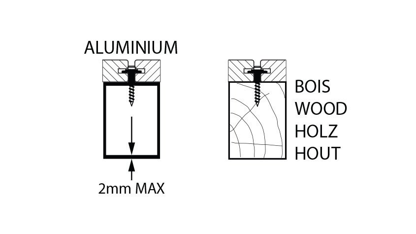 fixation sur lambourde aluminium et bois