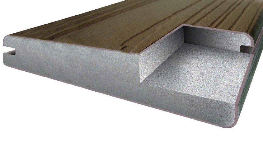 couche co-extrudée sur lame de terrasse