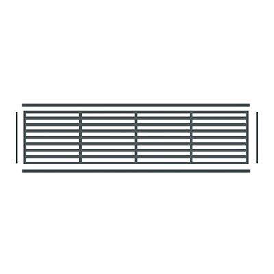 PRAXOS horizontale Zierleiste für BOSTON WPC-Sichtschutz