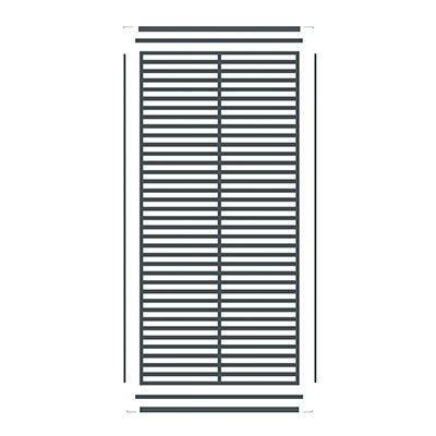 PRAXOS vertical Zierleiste für BOSTON WPC-Sichtschutz
